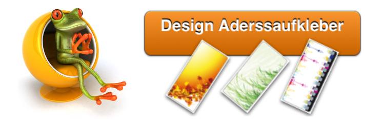 Design-Adressaufkleber / Design-Adressetiketten - Motive von A-Z