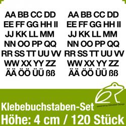 Klebebuchstaben-Set H.4cm 120Stück