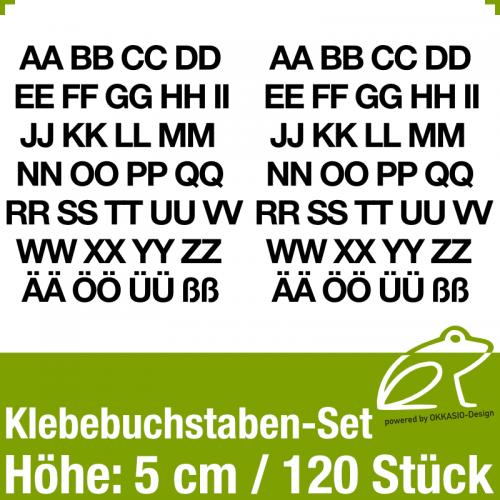 Klebebuchstaben-Set H.5cm 120Stück