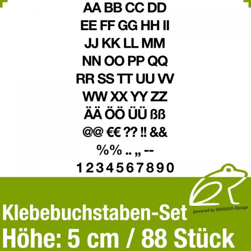 Klebebuchstaben-Set H.5cm 88Stück