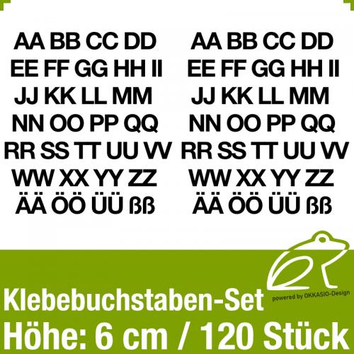 Klebebuchstaben-Set H.6cm 120Stück
