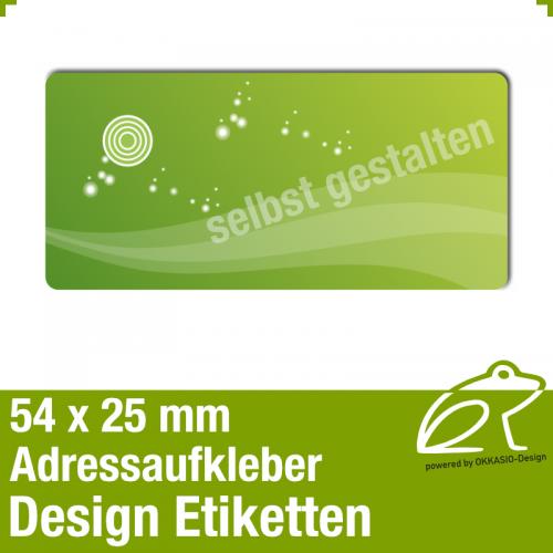 Design Adressaufkleber - 54 x 25 mm - *001