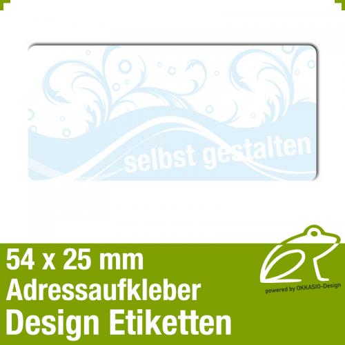 Design Adressaufkleber - 54 x 25 mm - *005
