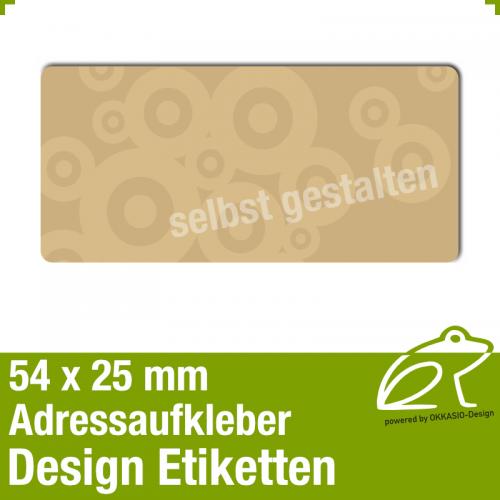 Design Adressaufkleber - 54 x 25 mm - *007