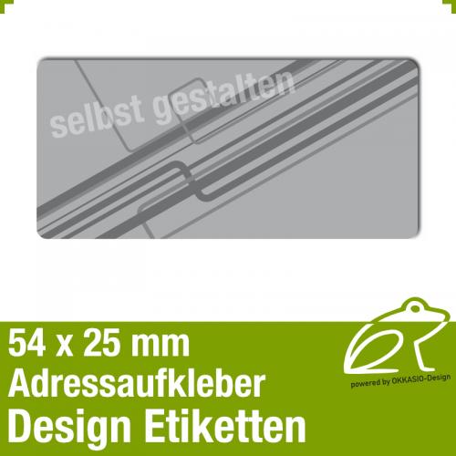 Design Adressaufkleber - 54 x 25 mm - *008