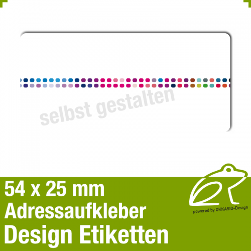 Design Adressaufkleber - 54 x 25 mm - *009
