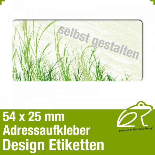Design Adressaufkleber - 54 x 25 mm - *010