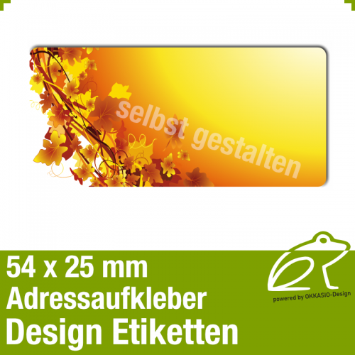 Design Adressaufkleber - 54 x 25 mm - *013