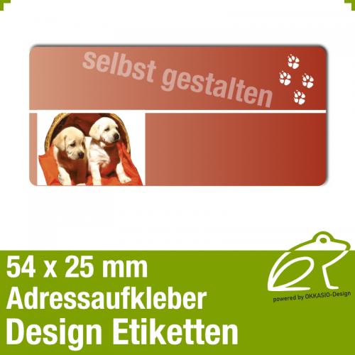 Design Adressaufkleber - 54 x 25 mm - *017