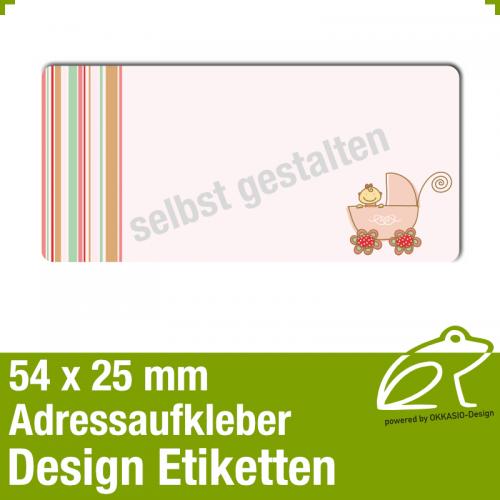 Design Adressaufkleber - 54 x 25 mm - *018