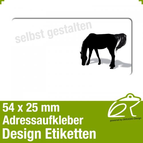 Design Adressaufkleber - 54 x 25 mm - *020