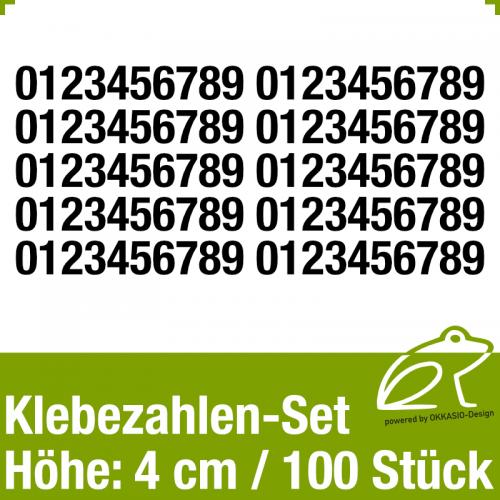 Klebezahlen-Set H.4cm 100Stück