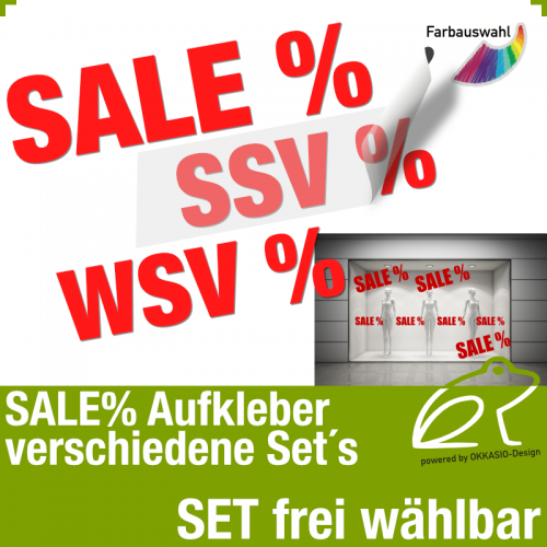 SALE% Aufkleber-Set - SSV% - WSV%