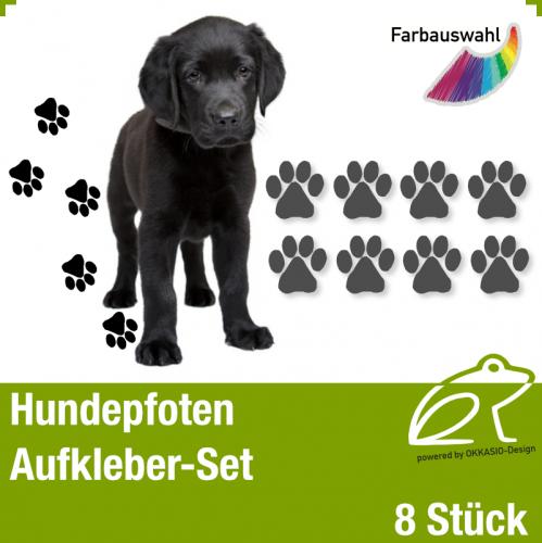 Hundepfoten Aufkleber-Set *1
