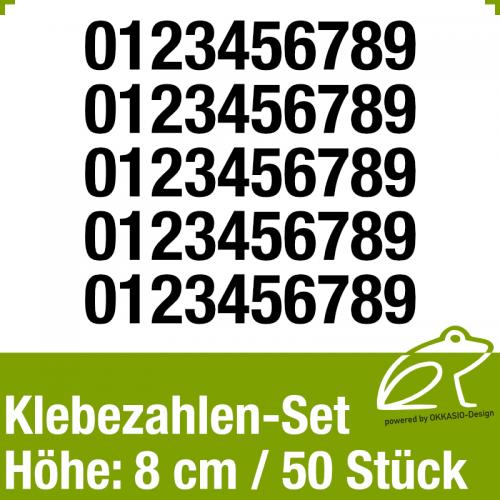 Klebezahlen-Set H.8cm 50Stück