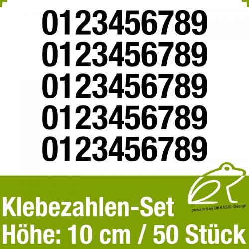 Klebezahlen-Set H.10cm 50Stück