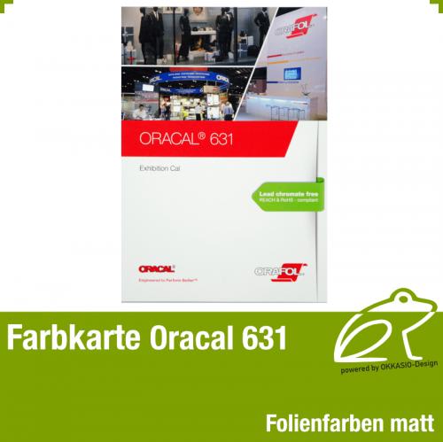 Farbkarte matt - Oracal 631 Exhibition Cal