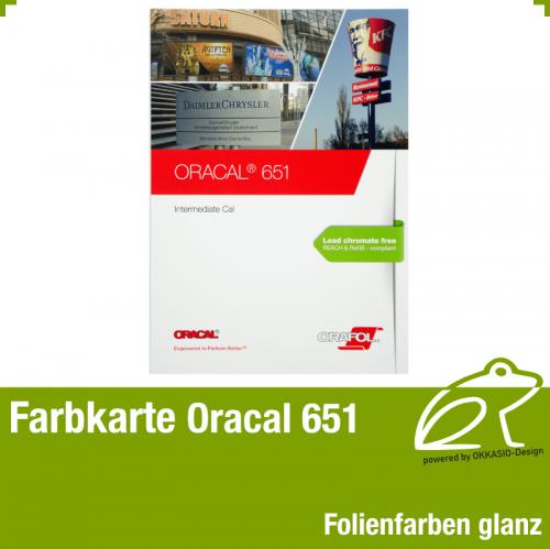 Farbkarte glanz - Oracal 651 Intermediate Cal