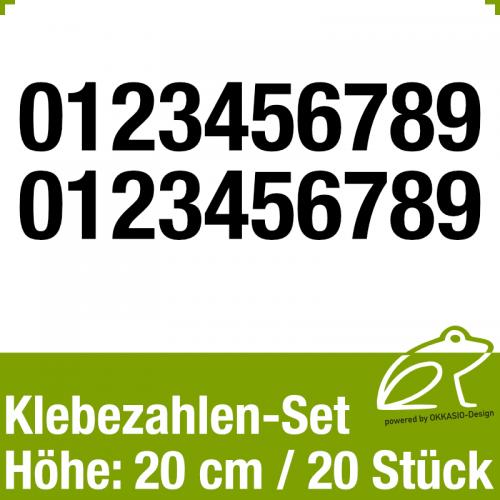 Klebezahlen-Set H.20cm 20Stück