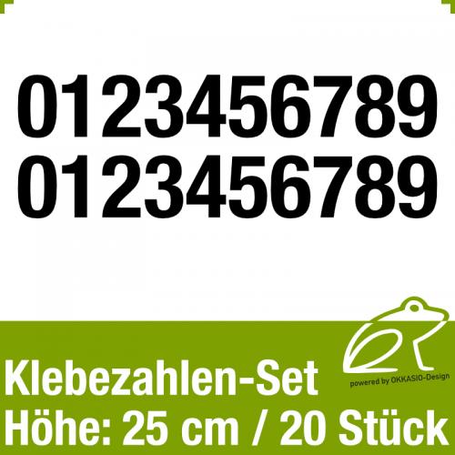 Klebezahlen-Set H.25cm 20Stück