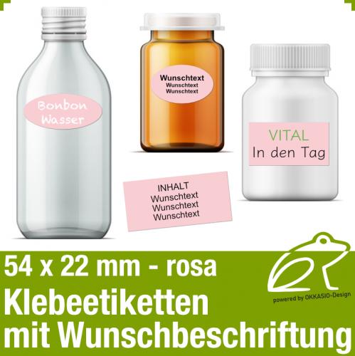 Klebeetiketten rosa - 54 x 22 mm