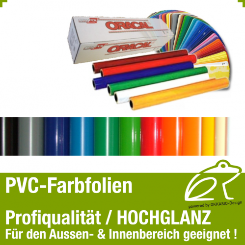 PVC Klebefolie hochglanz - 0,63m x 1,0m
