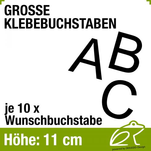 11 cm Klebebuchstaben - je 10 Stück