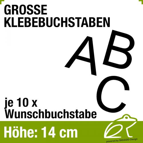 14 cm Klebebuchstaben - je 10 Stück