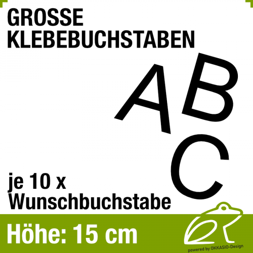 15 cm Klebebuchstaben - je 10 Stück