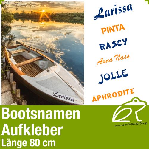 Bootsnamen Aufkleber Länge 80 cm