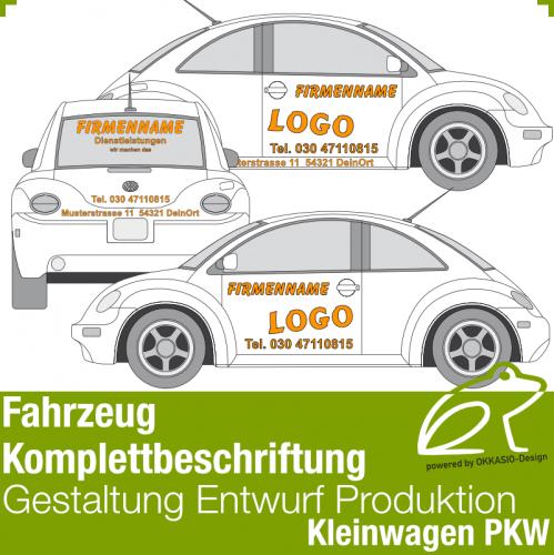 Autobeschriftung komplett - Kleinwagen / PKW