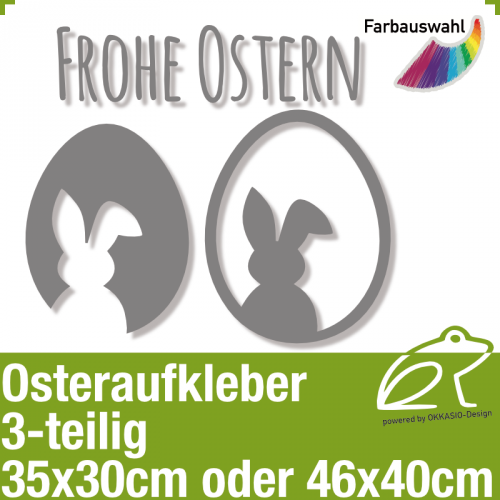 Aufkleber Frohe Ostern 3-teilig