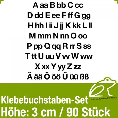 Klebebuchstaben-Set H.3cm 90Stück