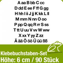 Klebebuchstaben-Set H.6cm 90Stück