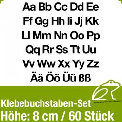Klebebuchstaben-Set H.8cm 60Stück (GK)