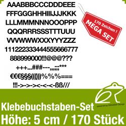 Klebebuchstaben-Set H.5cm 170Stück