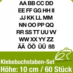 Klebebuchstaben-Set H.10cm 60Stück