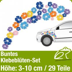 Buntes Klebeblüten-Set / 3-10cm / 29 Teile