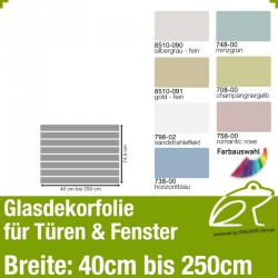 Glasdekor Sichtschutz - Streifendekor 01