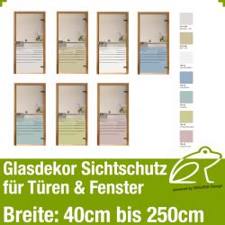 Glasdekor Sichtschutz - Streifendekor 02