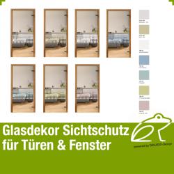 Glasdekor Sichtschutz - Quadratdekor 01