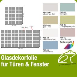 Glasdekor Sichtschutz - Quadratdekor 02