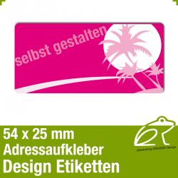 Design Adressaufkleber - 54 x 25 mm - *002