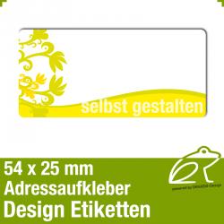 Design Adressaufkleber - 54 x 25 mm - *003
