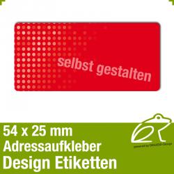 Design Adressaufkleber - 54 x 25 mm - *006