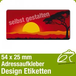 Design Adressaufkleber - 54 x 25 mm - *011