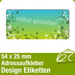 Design Adressaufkleber - 54 x 25 mm - *012