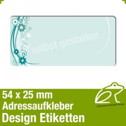 Design Adressaufkleber - 54 x 25 mm - *014