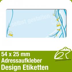 Design Adressaufkleber - 54 x 25 mm - *015