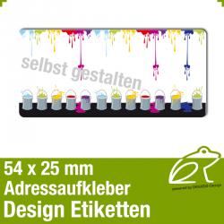 Design Adressaufkleber - 54 x 25 mm - *016